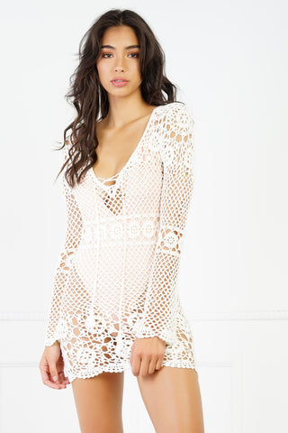 Pool Party Crochet Cover Up - Ivory