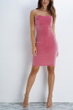 Exclusive Velvet Dress - Pink - WantMyLook