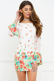 Britney Mini Dress - White Floral