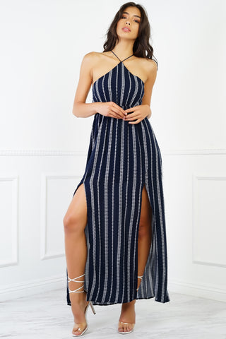 Noira Maxi Dress - Navy