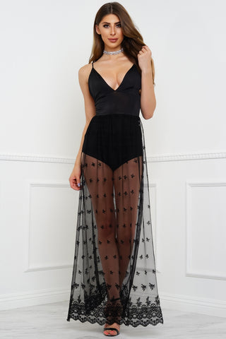 Affection Lace Dress - Black