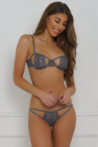 Undress Me Lingerie Set - Grey
