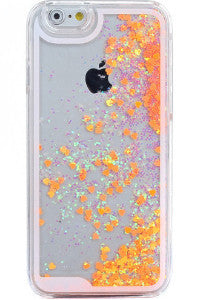 Orange Hearts iPhone Case- iPhone 6/6Plus
