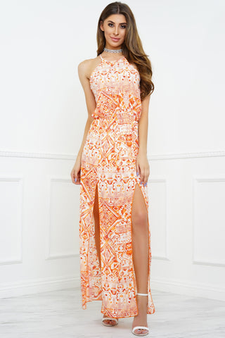 Close To Me Dress - Orange