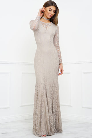 Eleanor Lace Gown - Champagne