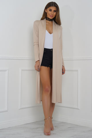 Bombshell Duster Cardigan - Nude