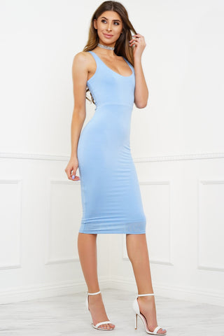 Heart Desires Dress - Blue