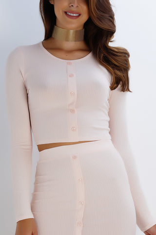 Lifeline Button Top - Blush