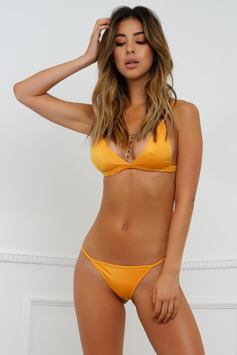 Summer Breeze Swim Bottom - Metallic Orange
