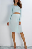 Lifeline Button Skirt - Blue - WantMyLook
