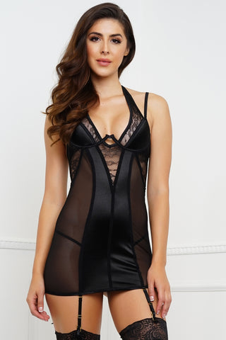 Runaway With You Chemise - Black