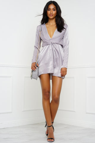 Haute Date Dress - Grey
