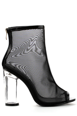 Maia Mesh Booties - Black