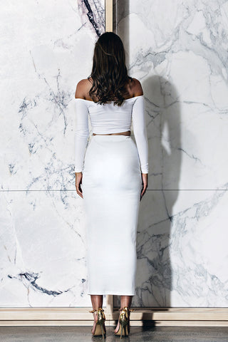 BOSSA Edessa Crop - White - WantMyLook