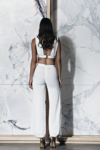 BOSSA Cabo Mesh Crop - White - WantMyLook