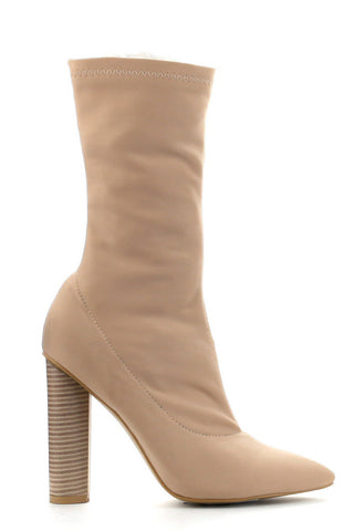 Connie Booties - Nude
