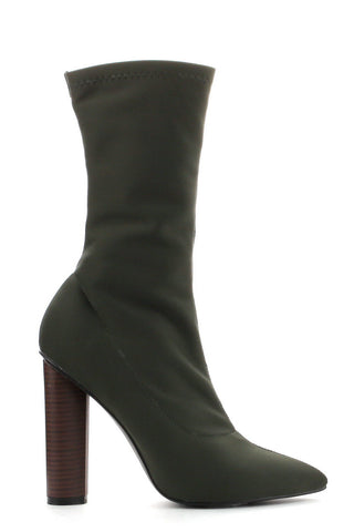 Connie Booties - Olive