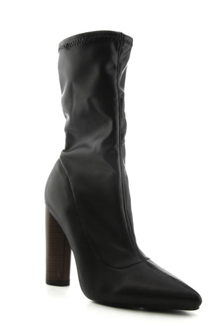 Connie Booties - Black PU