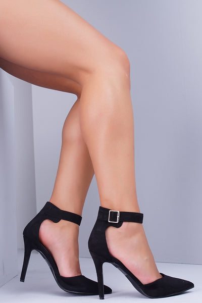 Isabel Buckle Pumps - Black