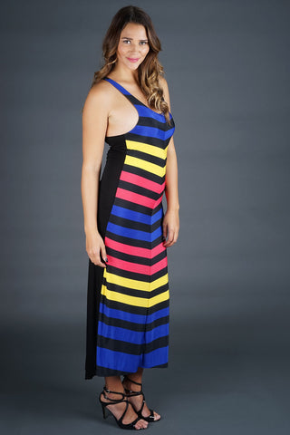 Diana Racerback Maxi - Striped - WantMyLook