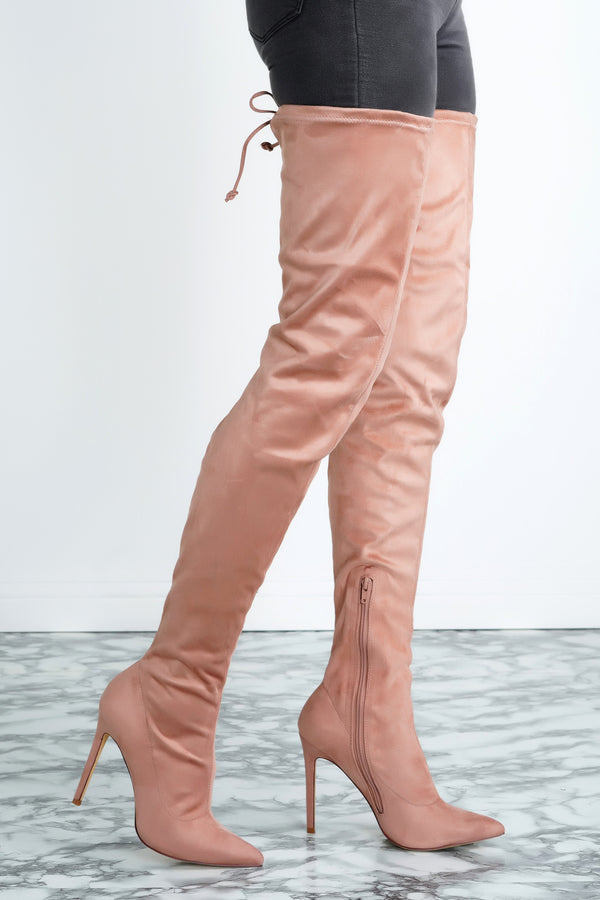 Giselle Over the Knee Boots - Mauve