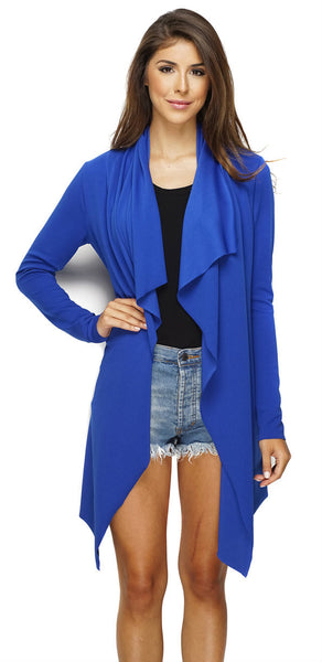 Maytal Open Cardigan - Cobalt Blue - WantMyLook