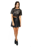 Debra Faux Leather Skirt