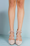 Beauty Heeled Booties - Nude