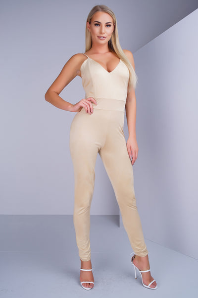 Virgo Jumpsuit - Tan - WantMyLook