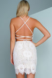 Lisa Lace Dress - White