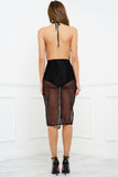 Kierra Mesh Skirt - Black