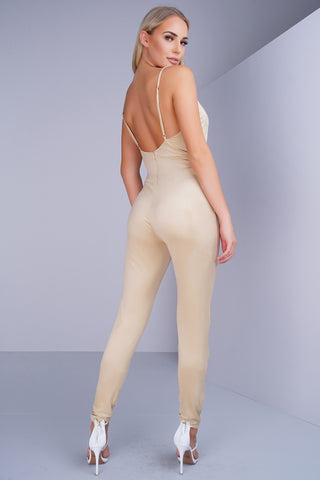 Virgo Jumpsuit - Tan