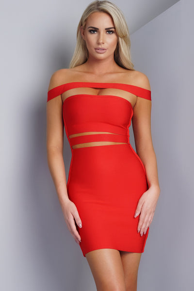 Samia Bandage Mini Dress - Red