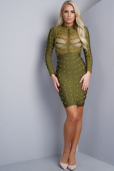 Queen Bandage Dress - Olive