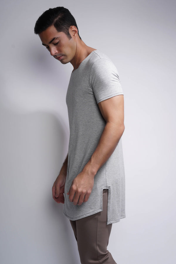 RB Square Neck Short Sleeve Shirt - Heather Grey