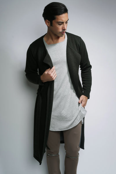 EO Long Cardigan - Deep Forest Green
