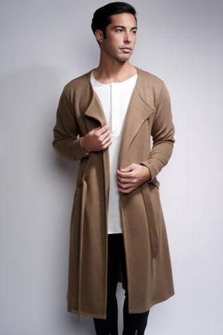 EO Long Cardigan - Tan - WantMyLook