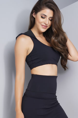 Holly Hooded Bra - Black