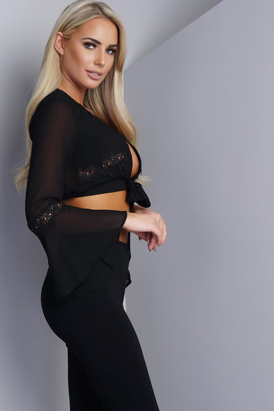 Brooke Bell Cropped Top - Black - WantMyLook