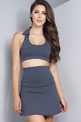 Theresa Tennis Skirt - Grey