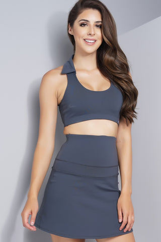 Courtney Collar Bra - Grey