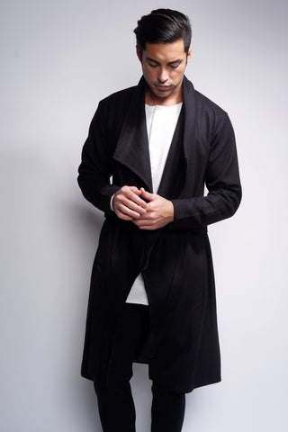 Ortega Trench Coat - Black