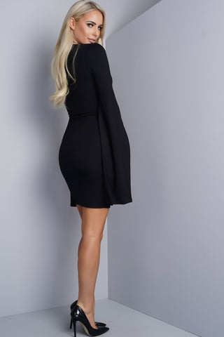 Ellery Cape Dress - Black