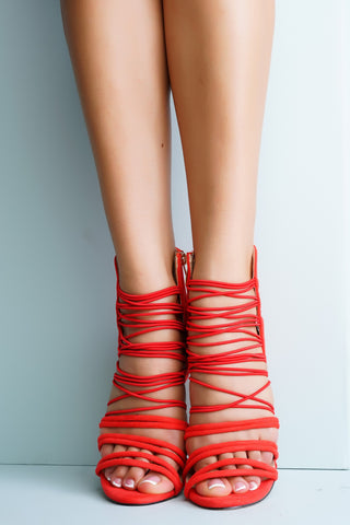Astra Strappy Heels - Red