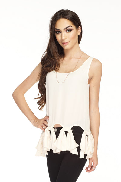 Chelsea Bow Top - Ivory