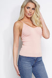 Vivien Bandage Knit Cami Top - Blush - WantMyLook