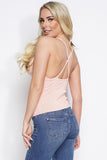 Vivien Bandage Knit Cami Top - Blush