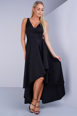 Rose Wrap Dress - Black