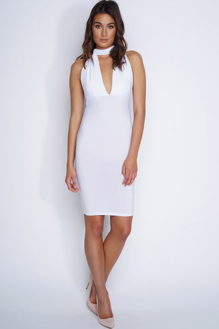 Willa Multi-Wrap Midi Dress - White - WantMyLook