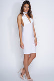 Willa Multi-Wrap Midi Dress - White